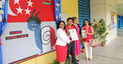 GIIS unveils largest display of bread tags commemorating Singapore's 48th National Day