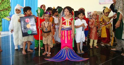 Tiny tots of GIIS Uppal-Hyderabad Campus look poised in fancy dress
