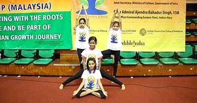 International Yoga Day at Global Indian International School