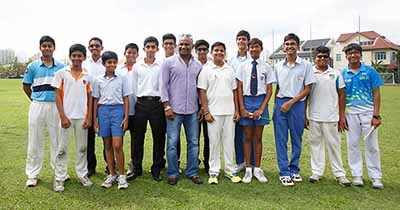 """Hard work, dedication and perseverance are key aspects in achieving your dreams,"" shares Sanath Jayasuriya with GIIS students"
