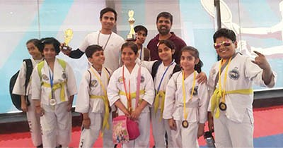 GIIS Noida shines in Sports: Students showcase exceptional skills in the Taekwondo Championship