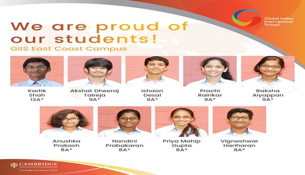 GIIS East Coast Students Make School Proud with Amazing IGCSE Class10 Result