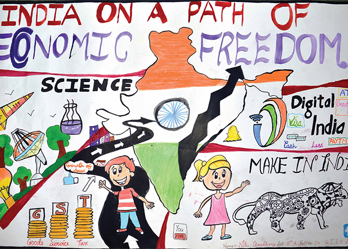 Giis Surat Hosts Inter Giis Poster Making Competition On Independence Day