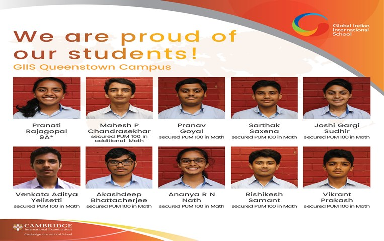 GIIS Queenstown Students Shine in IGCSE Class10 Results 2017