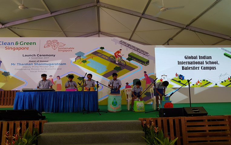 Recycled orchestra performance at Clean & Green Singapore Carnival 2017
