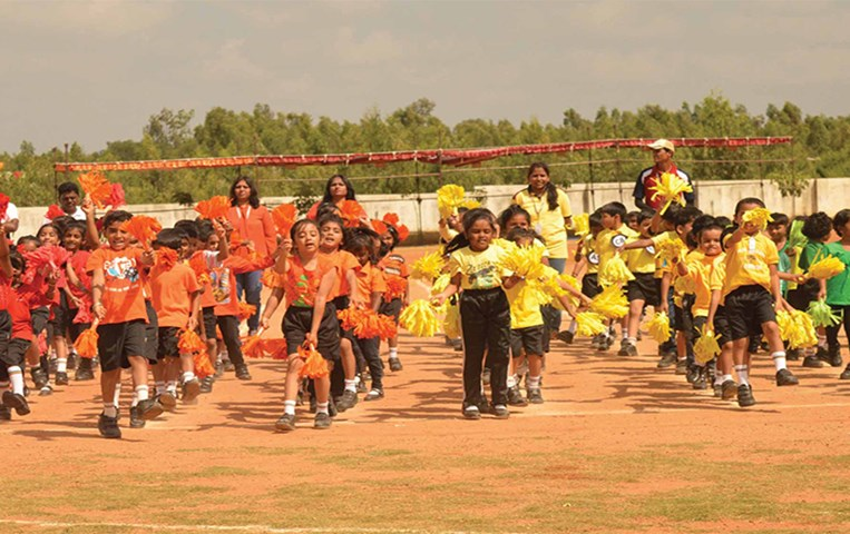 GIIS Bangalore Pre Primary gifted a rainbow surprise at the 5th Annual Sports Meet