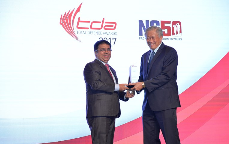 GIIS received NS Advocate Award in recognization of exemplary support for Total Defence and National Service