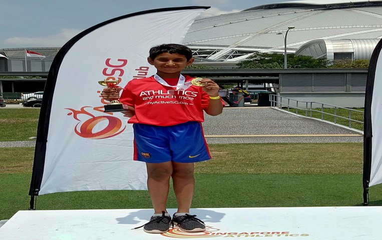 GIIS Balestier student excels at ActiveSG's Kids Athletics competition