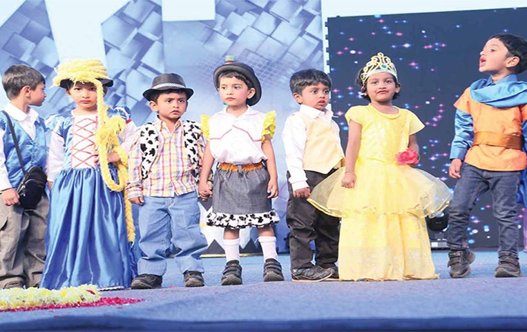 GIIS Bangalore Pre Primary Students narrated the Story of Music on the 5th Annual Day