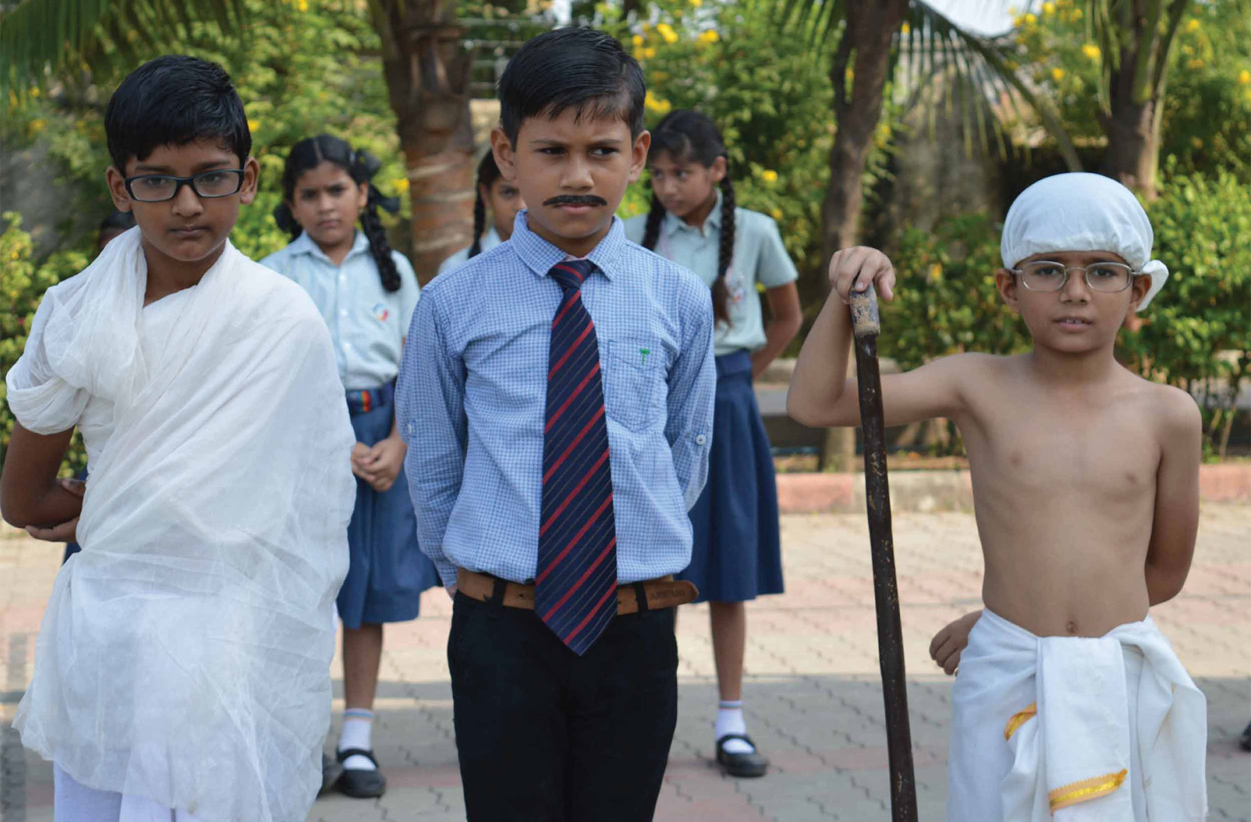 Gandhi Jayanti celebrated with great zeal, zest and patriotism in the school