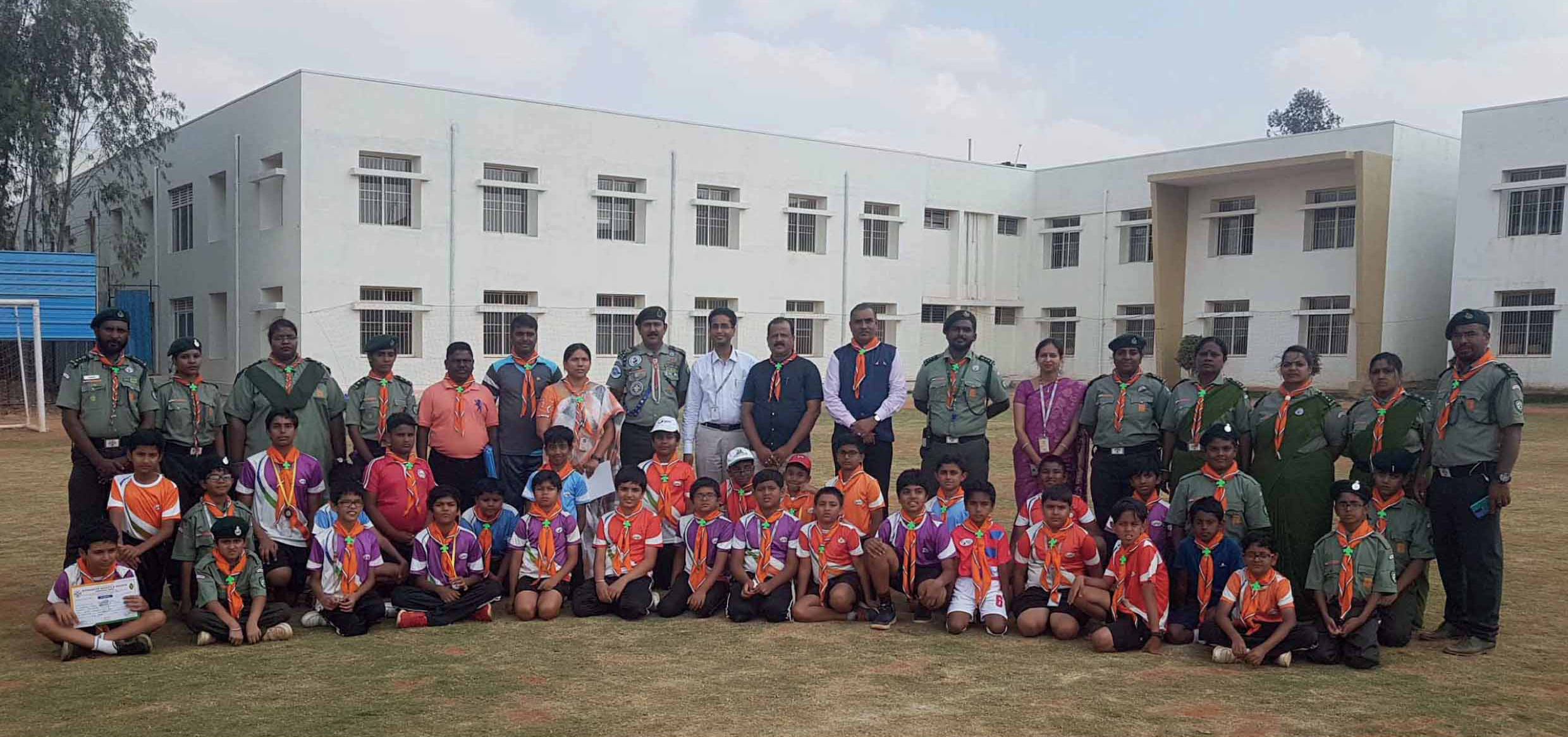First batch of Hindustan Scouts and Guides with 65 students, felicitated