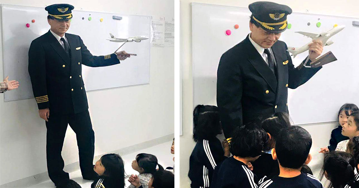 Visit by Pilot and Flight Attendant sparks curiosity among students