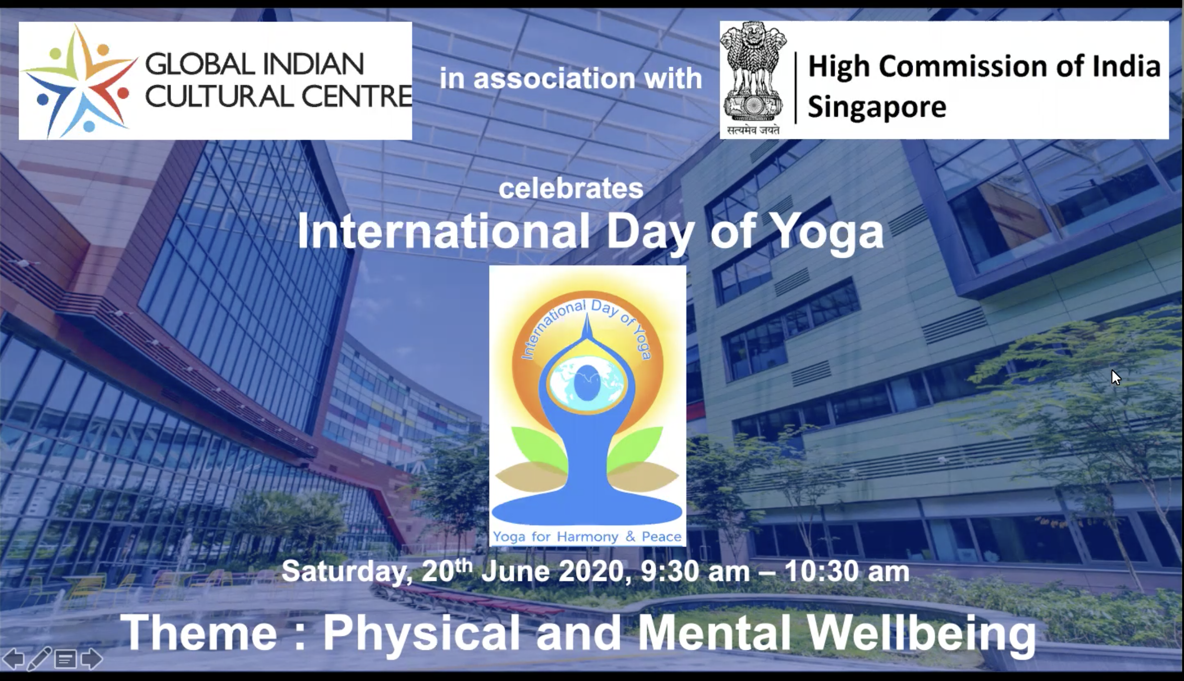 International Yoga Day virtual yoga session