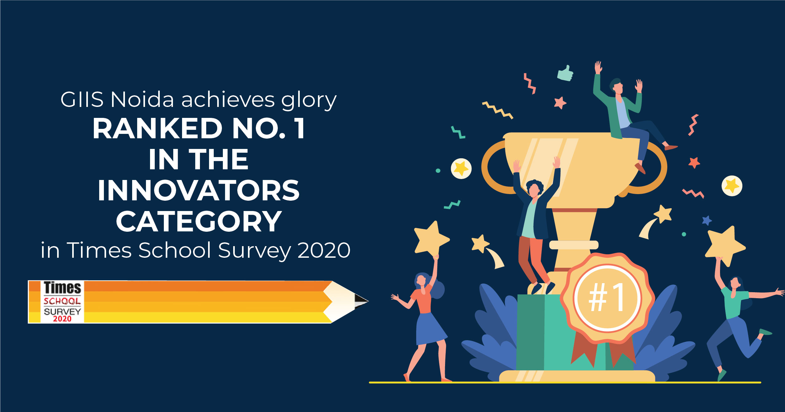 GIIS Noida ranks number 1 in Times School Survey 2020