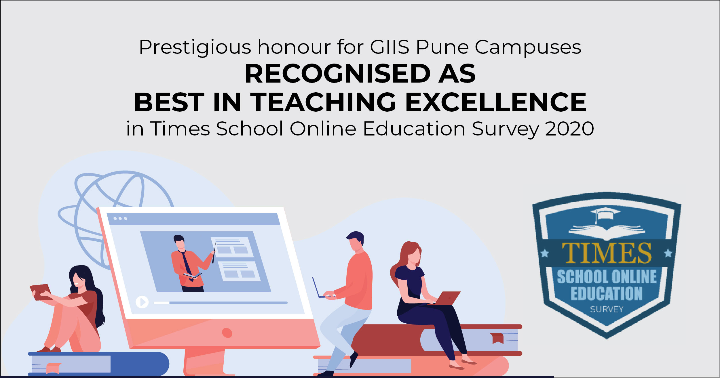 GIIS Pune Best in Teaching Excellence in Times School Online Education Survey