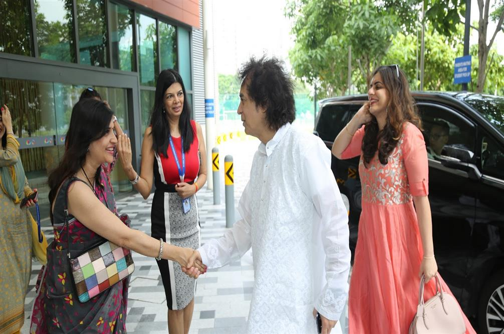 Ustad Zakir Hussain at GIIS SMART Campus, Singapore for Leadership Lecture Series