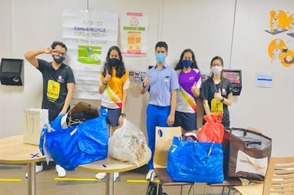 GIIS SMART Campus Hunger Warriors collect eWaste as part of Sustainability initiative
