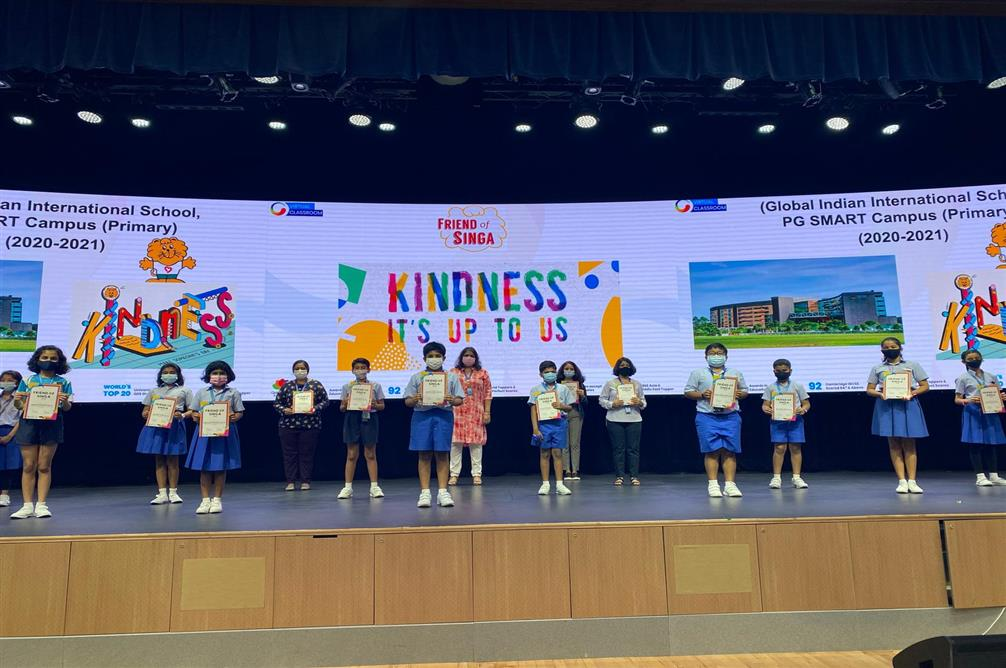 SMART Campus students win 'All Rounded Projects' award by the Singapore Kindness Movement
