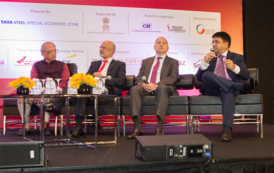 Mr Atul Temurnikar spoke on skills in India during the panel discussion