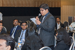 Another student from GIIS Queenstown Campus Ravikiran asked panellists about the banking sectors in India