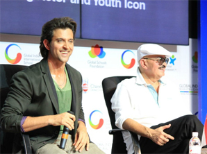 Hrithik speaks to GIIS students across Asia during a Q & A session