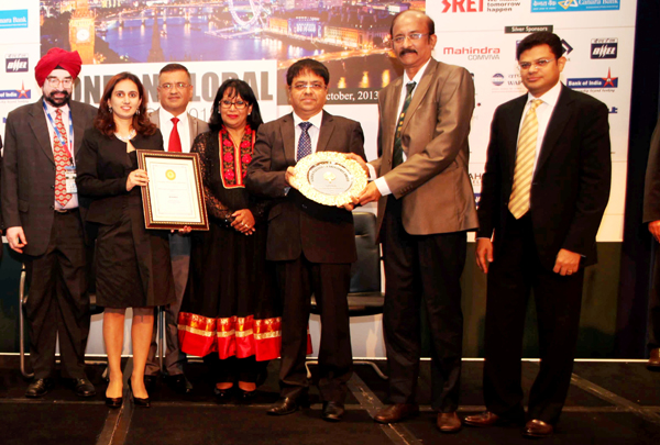GIIS team receiving the Golden Peacock HR Excellence Award 2013