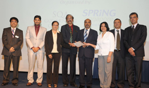 An elated GIIS, East Coast Campus team accompanied by GIIS Sr Management team with the prestigious Singapore Quality Class (SQC) Star 2010 plaque